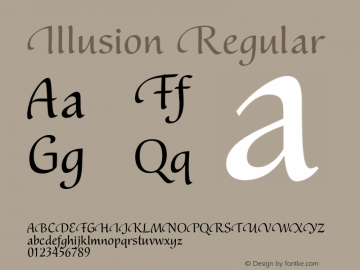 Illusion-Regular Version 1.000 | wf-rip DC20190305图片样张