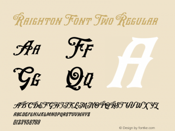 RaightonFontTwo Version 1.000图片样张