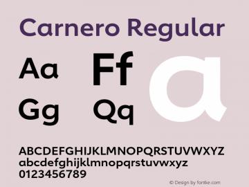 Carnero-Semibold Version 1.10, build 11, s3图片样张