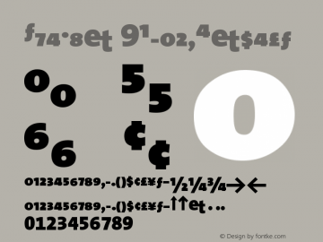 TheMix 9BlackExpert Version 1.0 Font Sample