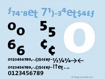 TheMix 7BoldExpert Version 1.0 Font Sample