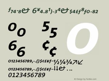 TheMix 6SemiBoldExpertItalic Version 1.0 Font Sample