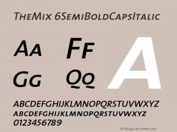 TheMix 6SemiBoldCapsItalic Version 1.0 Font Sample