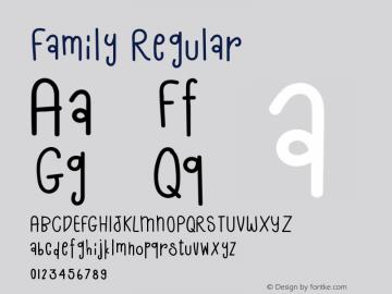Family Version 1.002;Fontself Maker 3.4.0图片样张