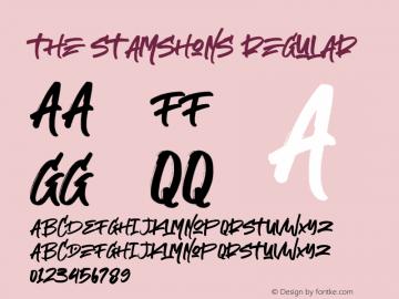 The Stamshons regular Version 1.00;January 12, 2020;FontCreator 12.0.0.2535 64-bit图片样张