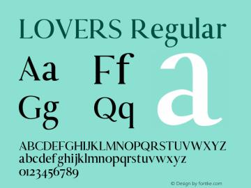 LOVERS Version 1.002;Fontself Maker 3.4.0图片样张