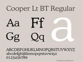 Cooper Lt BT Regular Version 1.000 2005 initial release图片样张