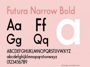 Futura Narrow Bold Converted from t:\FUTB.TF1 by ALLTYPE Font Sample