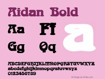 AidanBold Altsys Fontographer 4.1 12/23/94 {DfLp-URBC-66E7-7FBL-FXFA}图片样张