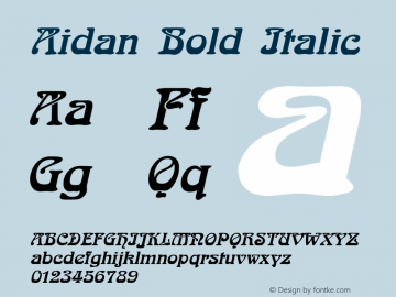 AidanBoldItalic Altsys Fontographer 4.1 12/23/94 {DfLp-URBC-66E7-7FBL-FXFA}图片样张