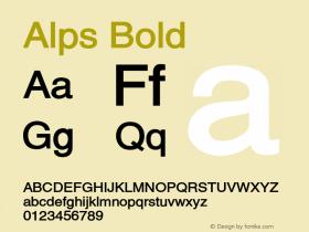 AlpsBold Altsys Fontographer 4.1 12/26/94 {DfLp-URBC-66E7-7FBL-FXFA}图片样张