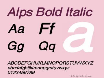 AlpsBoldItalic Altsys Fontographer 4.1 12/26/94 {DfLp-URBC-66E7-7FBL-FXFA}图片样张