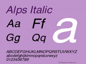 AlpsItalic Altsys Fontographer 4.1 12/26/94 {DfLp-URBC-66E7-7FBL-FXFA}图片样张