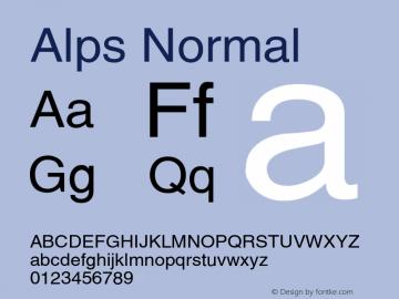 AlpsNormal Altsys Fontographer 4.1 12/26/94 {DfLp-URBC-66E7-7FBL-FXFA}图片样张