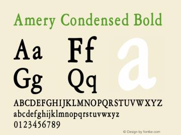 AmeryCondensedBold Altsys Fontographer 4.1 1/30/95 {DfLp-URBC-66E7-7FBL-FXFA}图片样张
