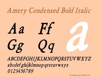 AmeryCondensedBoldItalic Altsys Fontographer 4.1 1/30/95 {DfLp-URBC-66E7-7FBL-FXFA}图片样张