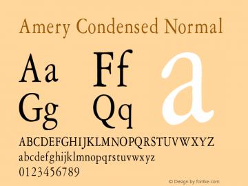 AmeryCondensedNormal Altsys Fontographer 4.1 1/30/95 {DfLp-URBC-66E7-7FBL-FXFA}图片样张