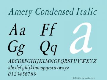 AmeryCondensedItalic Altsys Fontographer 4.1 1/30/95 {DfLp-URBC-66E7-7FBL-FXFA}图片样张