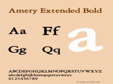 AmeryExtendedBold Altsys Fontographer 4.1 2/2/95 {DfLp-URBC-66E7-7FBL-FXFA}图片样张