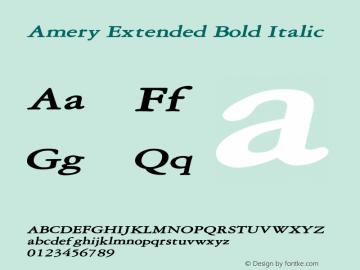 AmeryExtendedBoldItalic Altsys Fontographer 4.1 2/2/95 {DfLp-URBC-66E7-7FBL-FXFA}图片样张