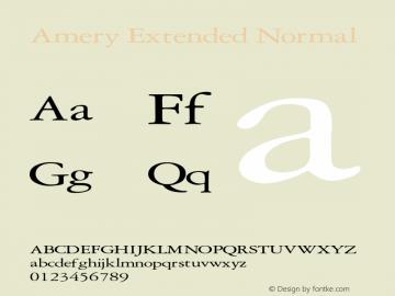 AmeryExtendedNormal Altsys Fontographer 4.1 2/2/95 {DfLp-URBC-66E7-7FBL-FXFA}图片样张