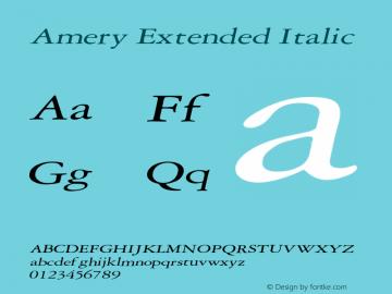AmeryExtendedItalic Altsys Fontographer 4.1 2/2/95 {DfLp-URBC-66E7-7FBL-FXFA}图片样张