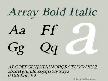 ArrayBoldItalic Altsys Fontographer 4.1 1/31/95 {DfLp-URBC-66E7-7FBL-FXFA}图片样张
