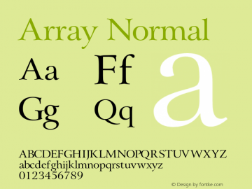 ArrayNormal Altsys Fontographer 4.1 1/31/95 {DfLp-URBC-66E7-7FBL-FXFA}图片样张