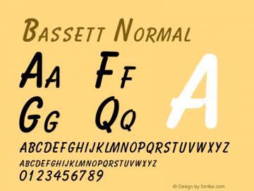 BassettNormal Altsys Fontographer 4.1 2/2/95 {DfLp-URBC-66E7-7FBL-FXFA}图片样张