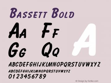 BassettBold Altsys Fontographer 4.1 2/2/95 {DfLp-URBC-66E7-7FBL-FXFA}图片样张