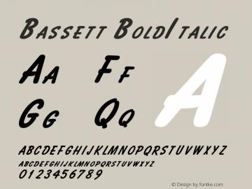 BassettBoldItalic Altsys Fontographer 4.1 2/2/95 {DfLp-URBC-66E7-7FBL-FXFA}图片样张