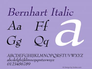 BernhartItalic 1.0 Wed Jul 28 00:57:03 1993 {DfLp-URBC-66E7-7FBL-FXFA}图片样张