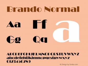 BrandoNormal Altsys Fontographer 4.1 12/22/94 {DfLp-URBC-66E7-7FBL-FXFA}图片样张
