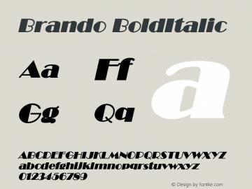 BrandoBoldItalic Altsys Fontographer 4.1 12/22/94 {DfLp-URBC-66E7-7FBL-FXFA}图片样张