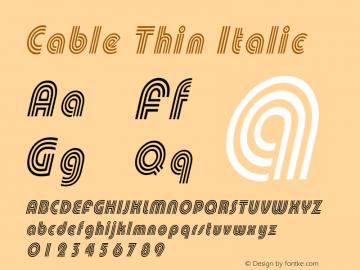 CableThinItalic Altsys Fontographer 4.1 1/30/95 {DfLp-URBC-66E7-7FBL-FXFA}图片样张
