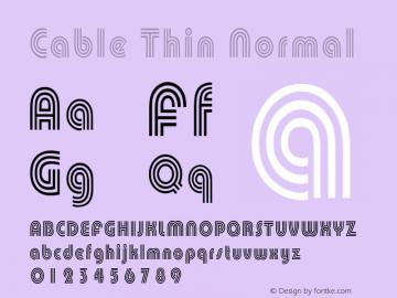 CableThinNormal Altsys Fontographer 4.1 1/30/95 {DfLp-URBC-66E7-7FBL-FXFA}图片样张
