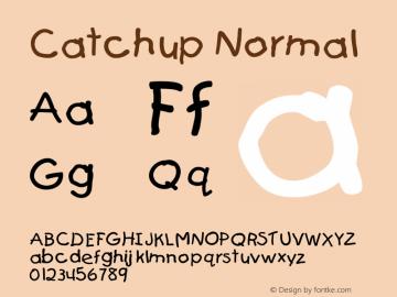 CatchupNormal Altsys Fontographer 4.1 12/27/94 {DfLp-URBC-66E7-7FBL-FXFA}图片样张