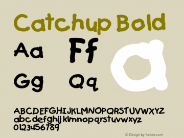 CatchupBold Altsys Fontographer 4.1 12/27/94 {DfLp-URBC-66E7-7FBL-FXFA}图片样张