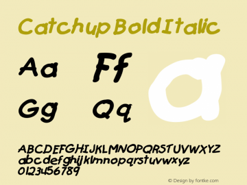 CatchupBoldItalic Altsys Fontographer 4.1 12/27/94 {DfLp-URBC-66E7-7FBL-FXFA}图片样张