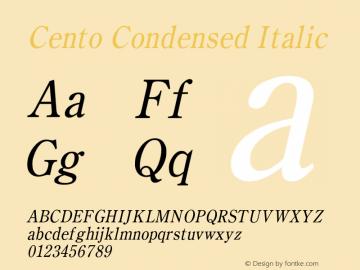 CentoCondensedItalic Altsys Fontographer 4.1 1/27/95 {DfLp-URBC-66E7-7FBL-FXFA}图片样张