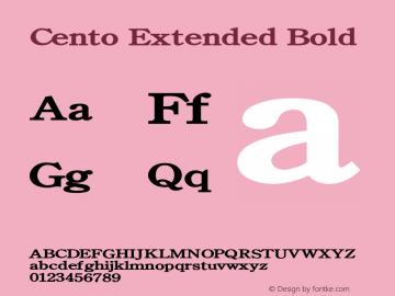 CentoExtendedBold Altsys Fontographer 4.1 1/27/95 {DfLp-URBC-66E7-7FBL-FXFA}图片样张