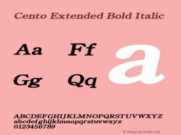 CentoExtendedBoldItalic Altsys Fontographer 4.1 1/27/95 {DfLp-URBC-66E7-7FBL-FXFA}图片样张