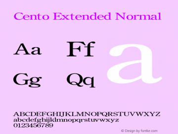 CentoExtendedNormal Altsys Fontographer 4.1 1/27/95 {DfLp-URBC-66E7-7FBL-FXFA}图片样张