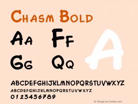 ChasmBold Altsys Fontographer 4.1 2/2/95 {DfLp-URBC-66E7-7FBL-FXFA}图片样张
