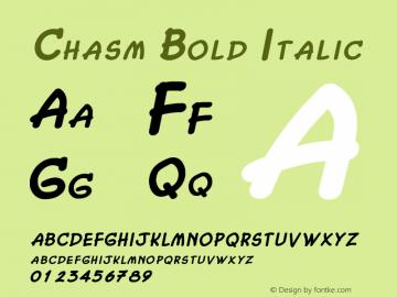 ChasmBoldItalic Altsys Fontographer 4.1 2/2/95 {DfLp-URBC-66E7-7FBL-FXFA}图片样张
