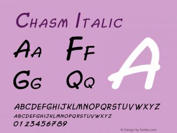 ChasmItalic Altsys Fontographer 4.1 2/2/95 {DfLp-URBC-66E7-7FBL-FXFA}图片样张