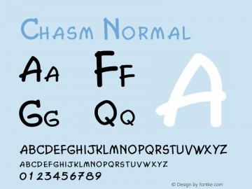 ChasmNormal Altsys Fontographer 4.1 2/2/95 {DfLp-URBC-66E7-7FBL-FXFA}图片样张