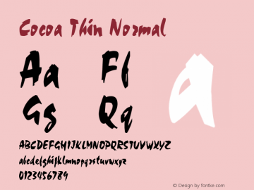 CocoaThinNormal Altsys Fontographer 4.1 2/2/95 {DfLp-URBC-66E7-7FBL-FXFA}图片样张