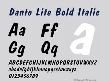 Danto Lite Bold Italic Version 1.000;PS 001.001;hotconv 1.0.38 {DfLp-URBC-66E7-7FBL-FXFA}图片样张