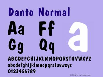 DantoNormal Altsys Fontographer 4.1 1/30/95 {DfLp-URBC-66E7-7FBL-FXFA}图片样张
